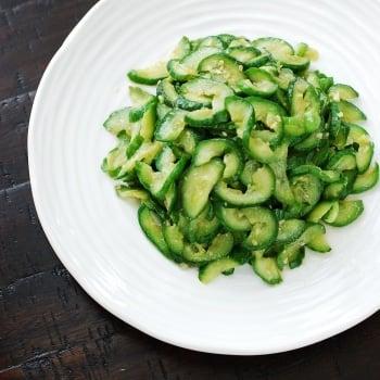 DSC 0916 350x350 - Stir-fried Cucumbers (Oi Bokkeum)