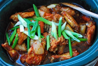 Slower cooker Korean chicken