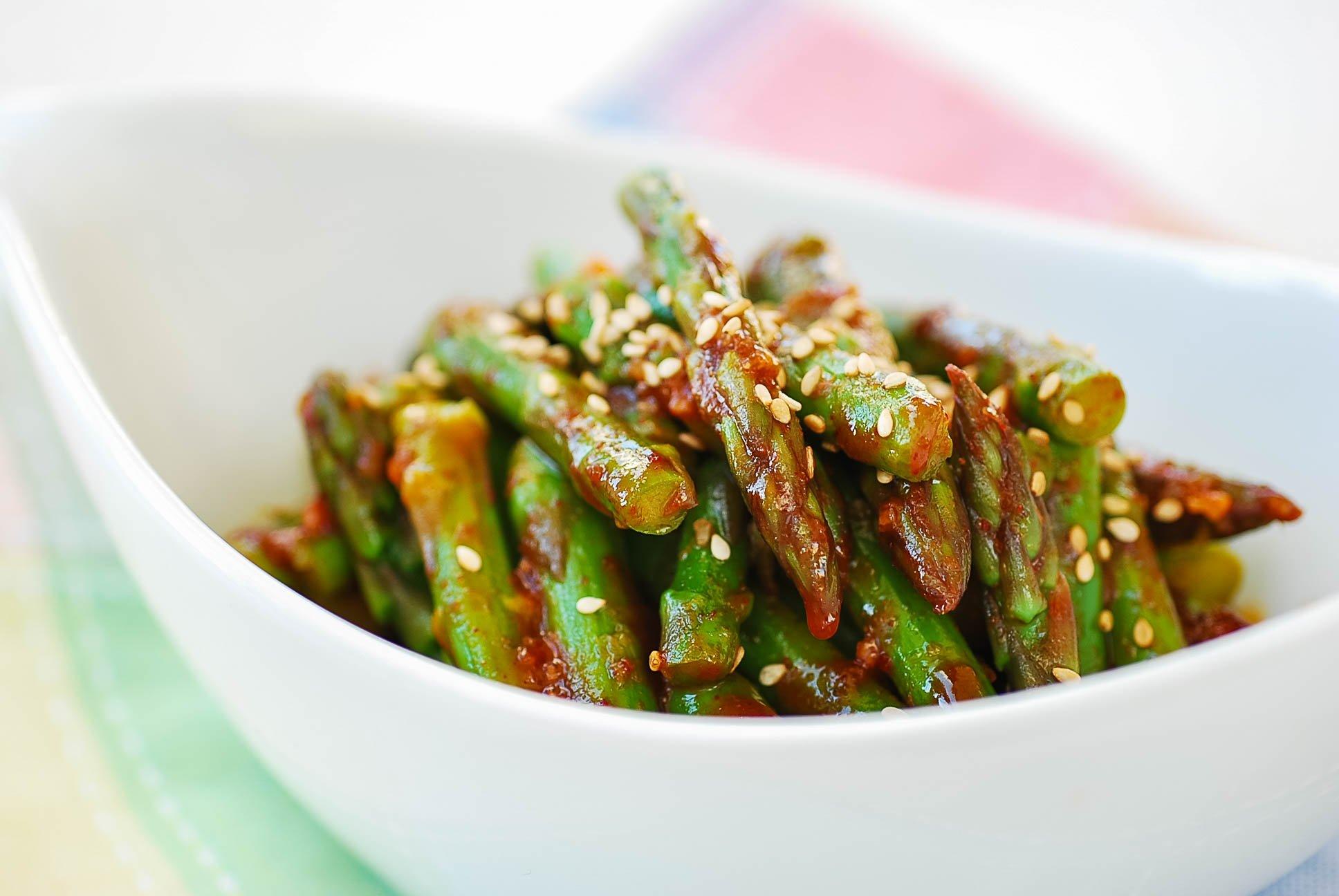 DSC 0815 - Asparagus with Gochujang Sauce