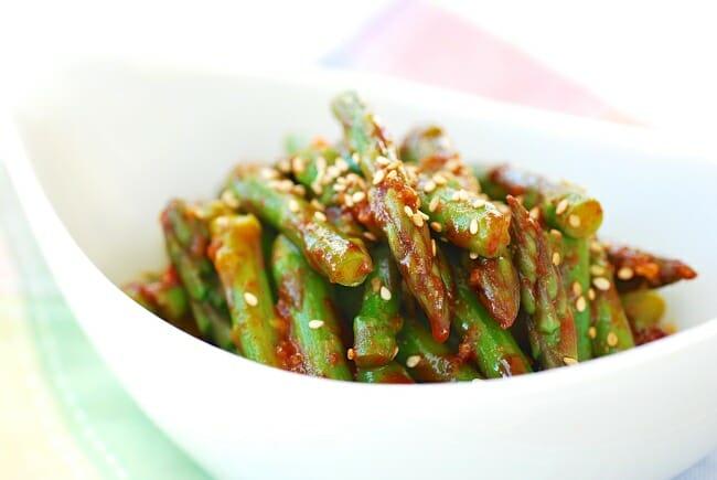 DSC 08151 e1427080912752 - Asparagus with Gochujang Sauce