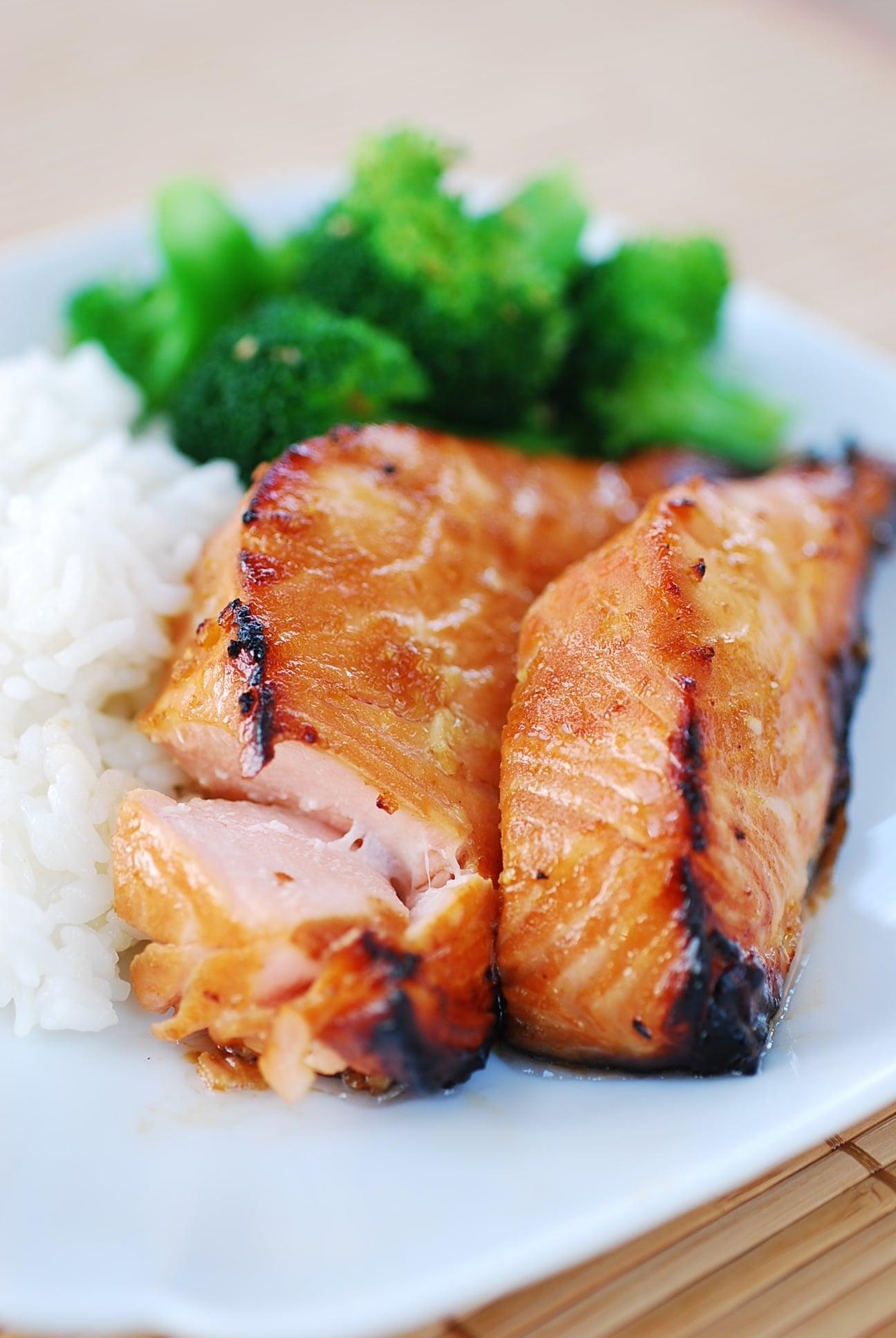 Korean flavored salmon