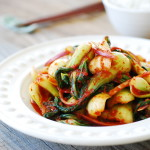 Baby Bok Choy Kimchi Salad (Geotjeori)