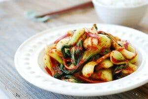 DSC 08551 300x201 1 - Baby Bok Choy Kimchi Salad (Geotjeori)