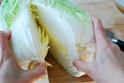 kimchi recipe step 1 e1431839519165 - Traditional Kimchi (Napa Cabbage Kimchi)