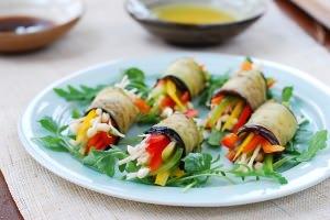 Eggplant rolls (Gaji Mari)
