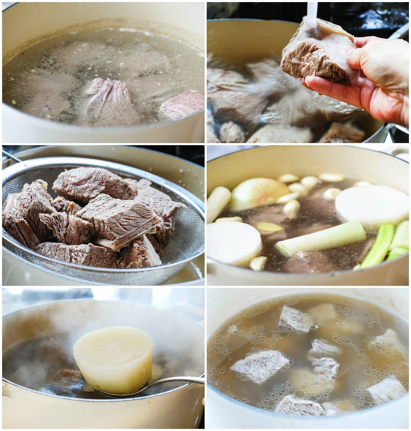 Galbitang collage - Galbitang (Beef Short Rib Soup)