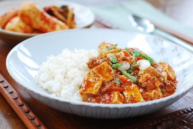Korean-style mapo tofu