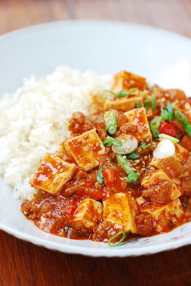 Mapo Tofu (Korean-Style) - Korean Bapsang
