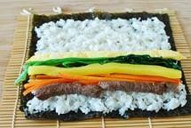 gimbap recipe 11 - Gimbap (Korean Seaweed Rice Rolls)