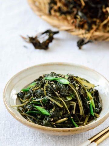 Chwinamul (aster scaber greens) recipe