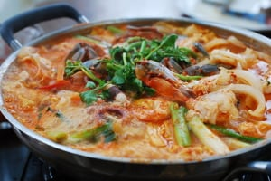 Haemul Jeongol (Spicy Seafood Hot Pot)
