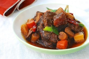 Slow cooker Korean braised beef shank