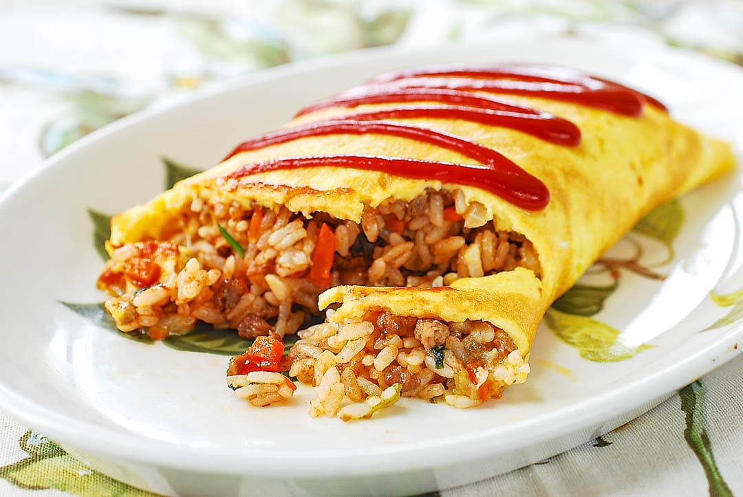 DSC 0024 2 - Omurice (Omelette Rice)