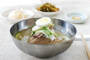 Mul Naengmyeon (Noodles in chilled broth)