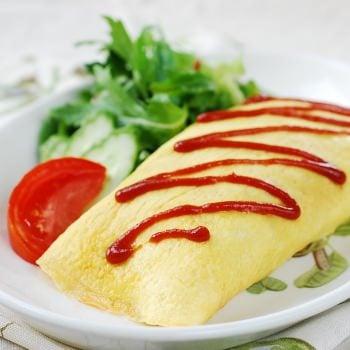 Omurice (omelette rice) recipe