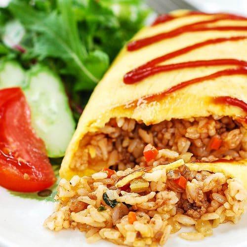 DSC 0161 3 500x500 - Omurice (Omelette Rice)