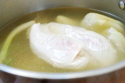 Chilled Korean chicken soup