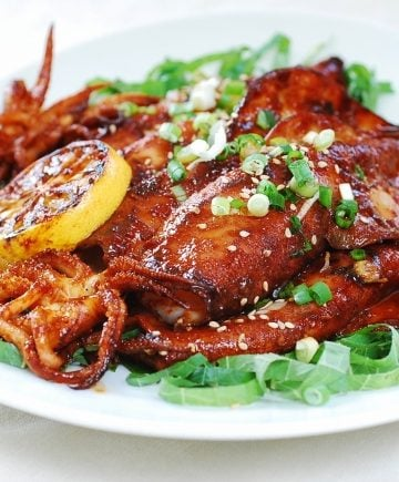 Spicy Grilled Squid (Ojingeo Gui)