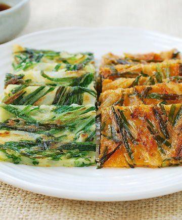 Buchujeon (Korean garlic chive pancakes)