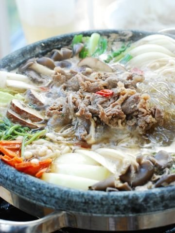 Bulgogi hot pot