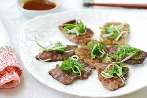 Yukjeon (Pan-fried battered beef)
