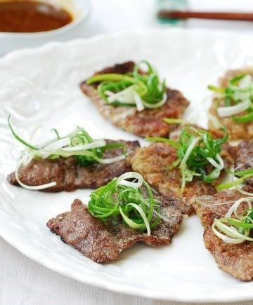 Yukjeon (Pan-fried battered beef)