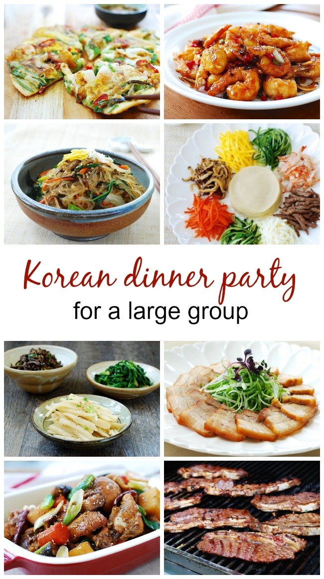 Korean dinner party large group - Korean Dinner Party Menus