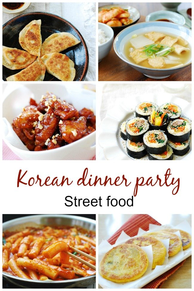 Korean dinner party streeet food - Korean Dinner Party Menus