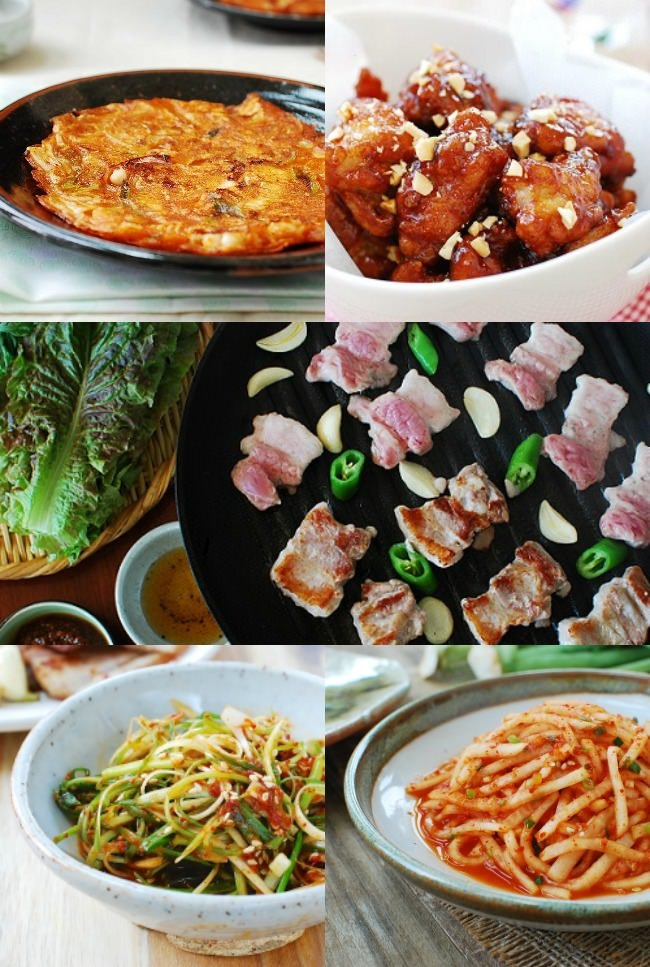 Simple Korean dinner party