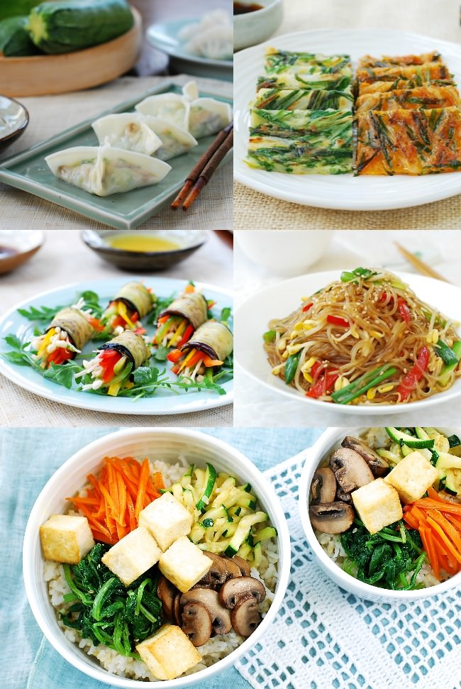 Korean Vegan dinner