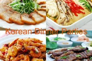 Menus for Korean Dinner Parties