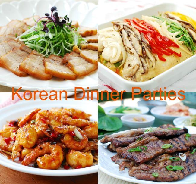 Menus for korean dinner parties korean bapsang for Dinner party recipes for 12