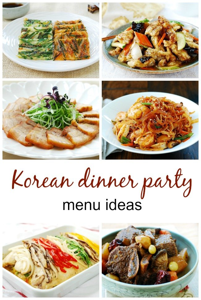 korean dinner party menu ideas - Menus for Korean Dinner Parties