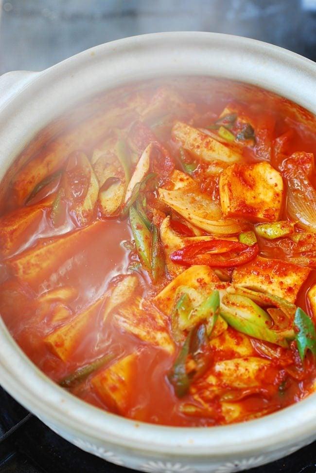 Spicy braised tofu (dubu jorim)