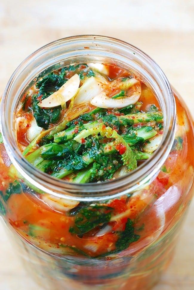 Yeolmu kimchi (young summer radish kimchi)