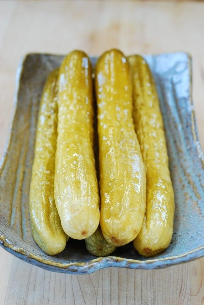DSC 0144 e1502940317897 - Oiji (Korean Pickled Cucumbers)
