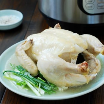 Instant Pot Nurungji Baeksuk (Boiled Chicken with Rice