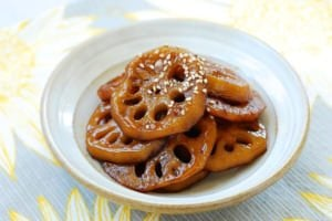 Yeongeun jorim (Sweet Soy Braised Lotus Roots)
