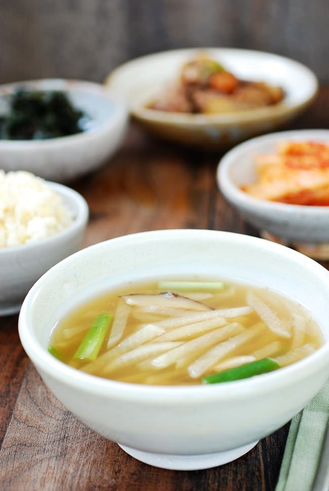 Mu Doenjang Guk (Korean Soybean Paste Radish Soup ...