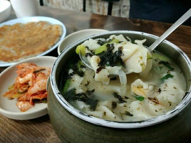 Samcheongdong sujebi (Korean dumpling soup)