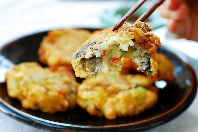 Crispy Guljeon (Korean-style oyster fritters)
