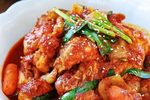 Instant Pot Korean red spicy chicken