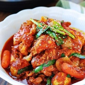 DSC 2793 1 350x350 - Pressure Cooker Dakbokkeumtang (Spicy Chicken Stew)