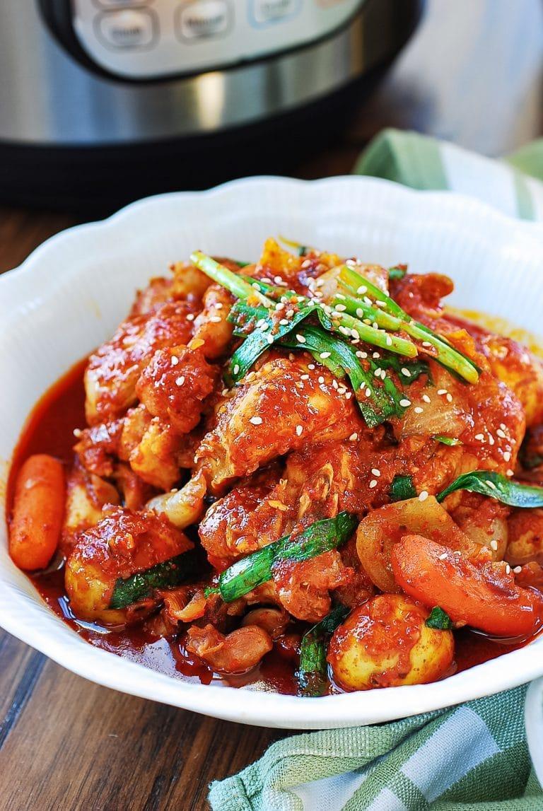Instant Pot Korean red spicy chicken