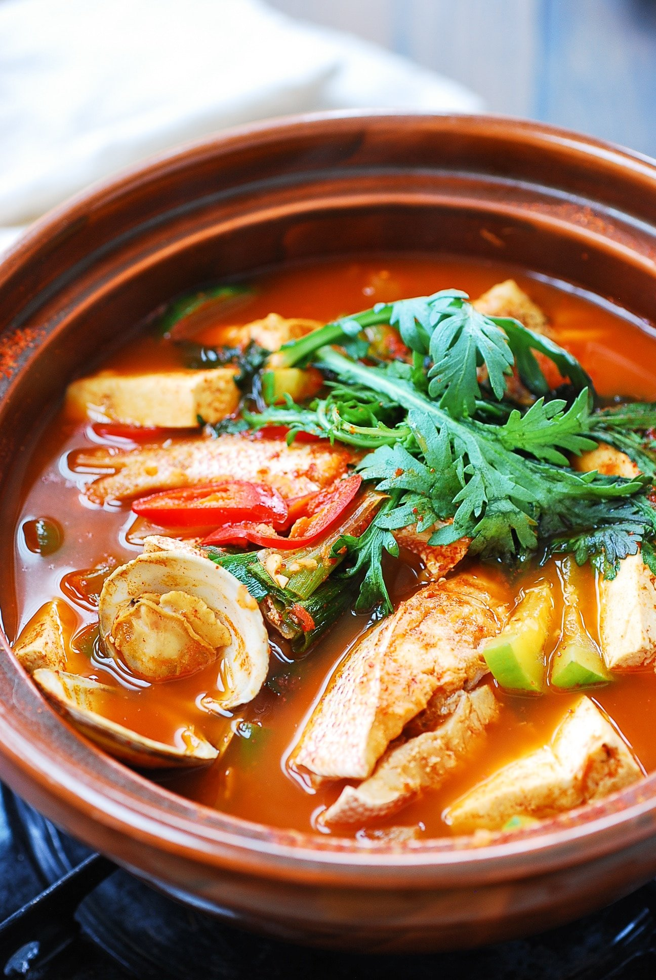 DSC 2723 1 - Domi Maeuntang (Spicy Fish Stew with Red Snapper)