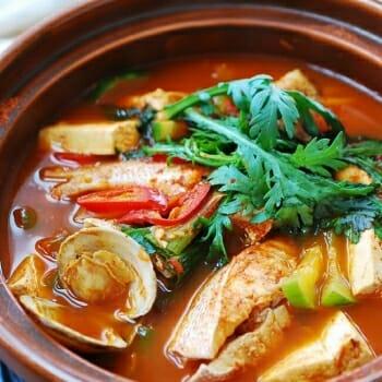 Maeuntang (Korean spicy fish stew)