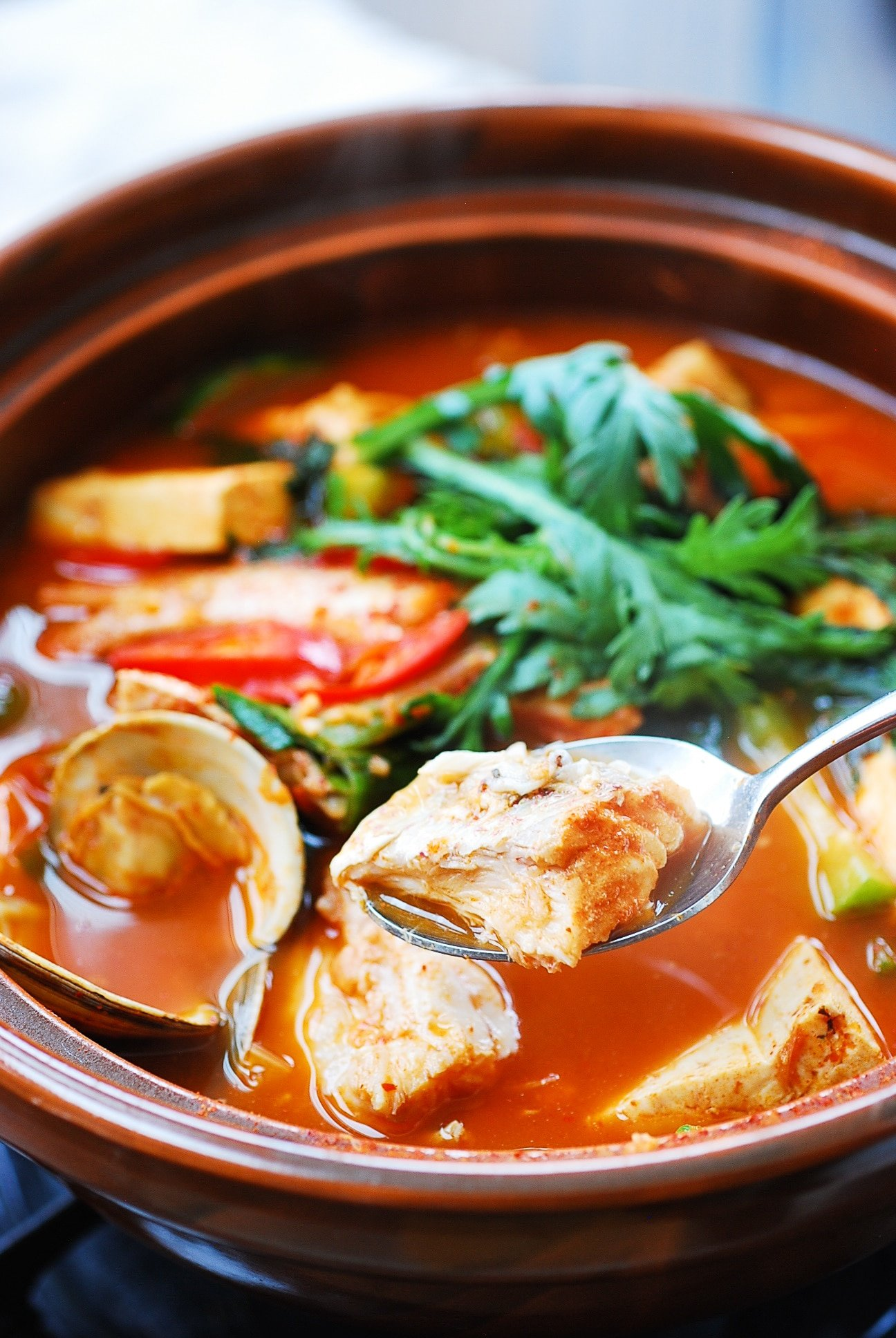 DSC 2725 2 - Domi Maeuntang (Spicy Fish Stew with Red Snapper)
