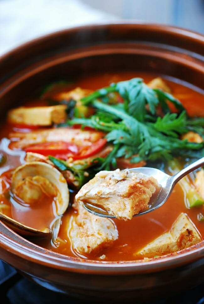 Maeuntang (Korean spicy fish stew)