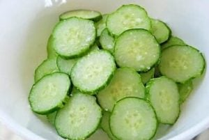 Korean spicy cucumber salad