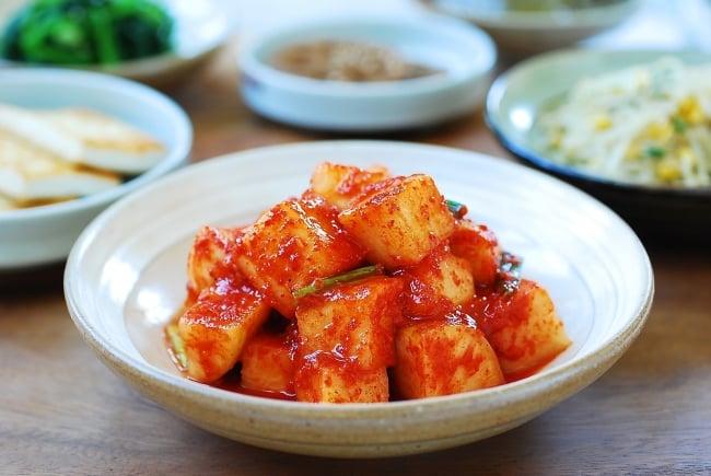radish kimchi side dish